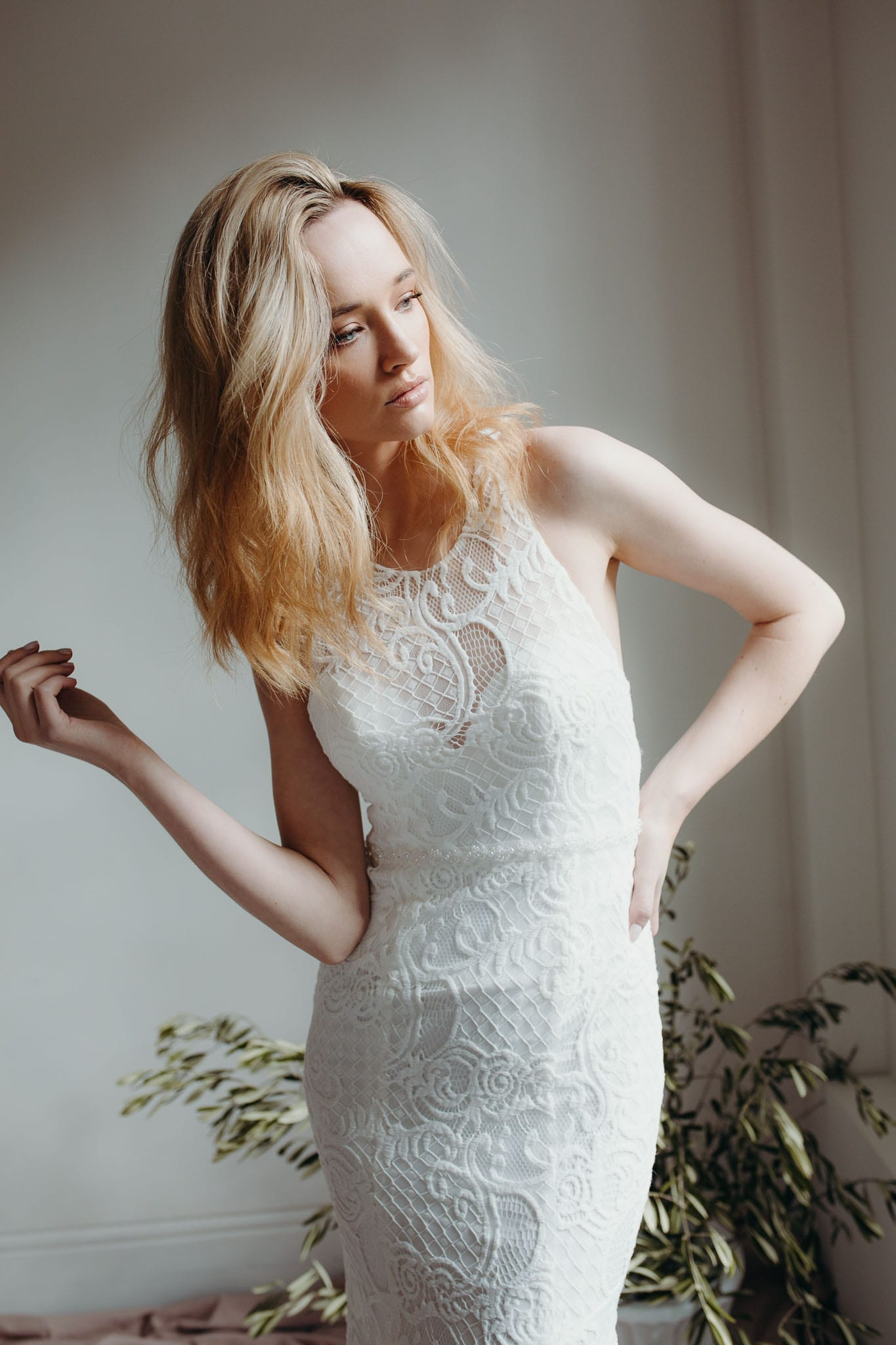 Daisy Wren Wedding Dress Halterneck