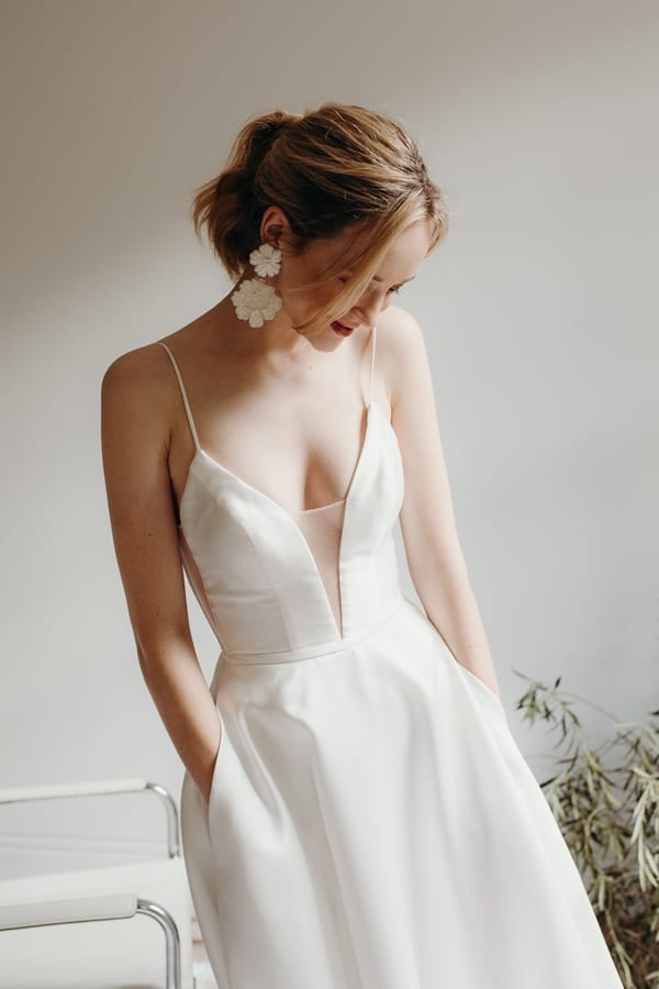 Camelia White Satin Wedding Dress