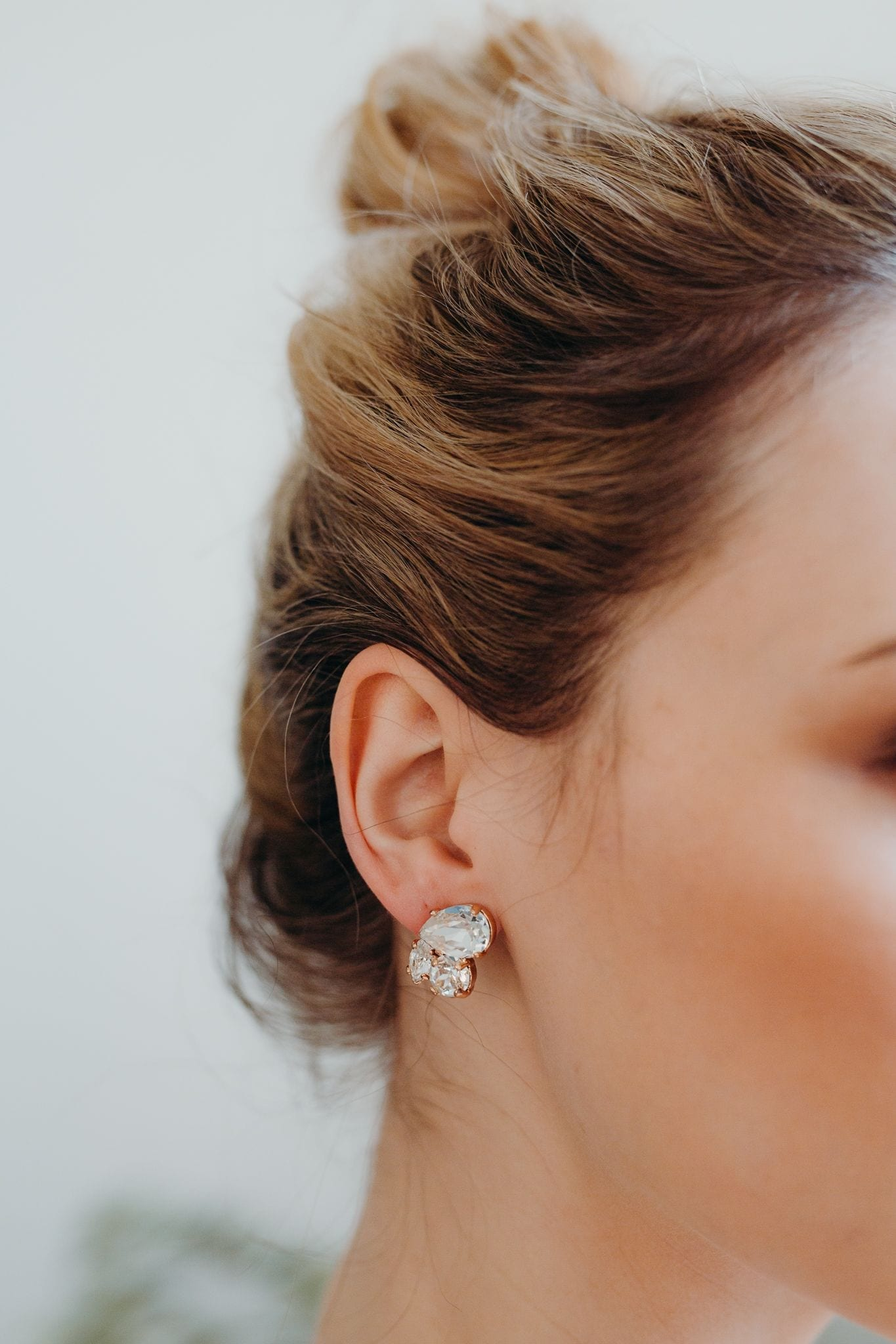 Lucy crystal cluster earrings