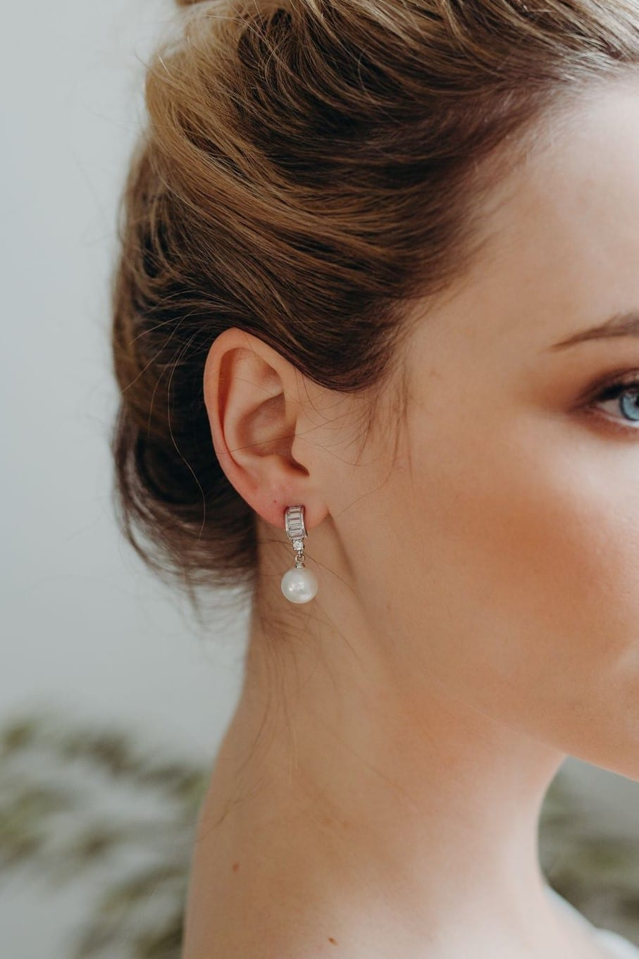 Maiya pearl drop earrings