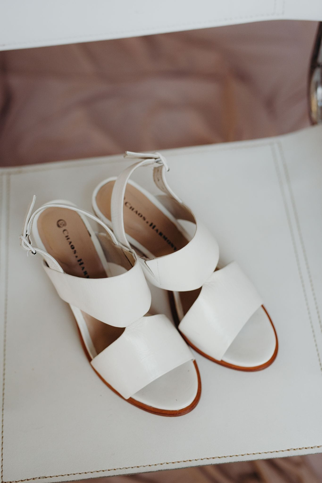 Passion Snow peep-toe and block heel